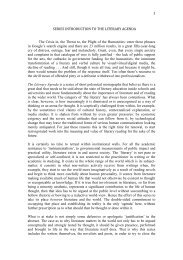 1 SERIES INTRODUCTION TO THE LITERARY AGENDA The Crisis ...