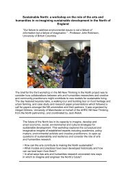 Sustainable North Report - University of Liverpool