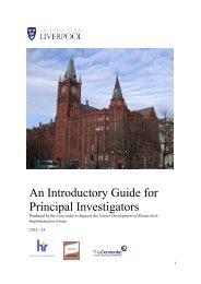 Investigator Guide - University of Liverpool