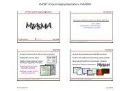 MIASMA case study - Microcirculation Analysis - University of ...
