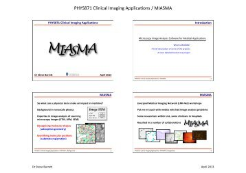 MIASMA case study - Microcirculation Analysis - University of ...