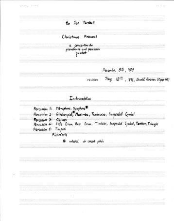 Rosner - Christmas Frescoes, op. 46