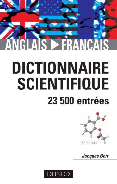 Dictionnaire Scientifique Anglais Francais Livres Pour Tous