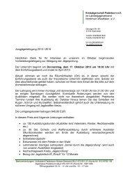 Jungjägerlehrgang 2013 / 2014 Herzlichen Dank für Ihr Interesse an ...