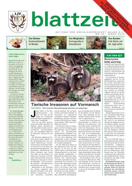 blattzeit, Ausgabe 16-13.pdf - Landesjagdverband Nordrhein ...