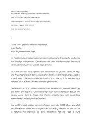 Rede Jagd Hund Eroeffnung.pdf - Landesjagdverband NRW