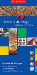 bezirks kultur tage - Landkreis Rhön-Grabfeld