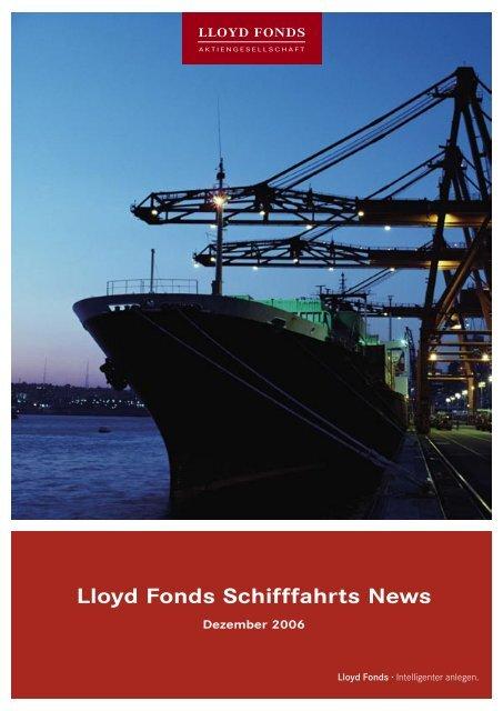 Lloyd Fonds Schifffahrts News - Lloyd Fonds AG