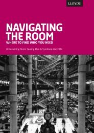 Navigating the Room: Where to find who you need - Lloyd's