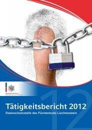 Tätigkeitsbericht 2012 (684 kb) - Landesverwaltung Liechtenstein