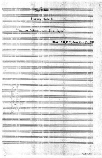 "Rosner - Symphony No. 5, ""Missa sine Cantoribus super Salve Regina"", op. 57"