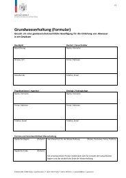 Grundwasserhaltung (Formular)
