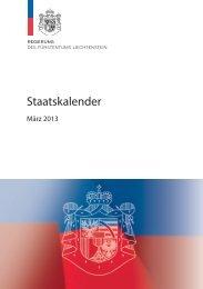 Staatskalender - Landesverwaltung Liechtenstein