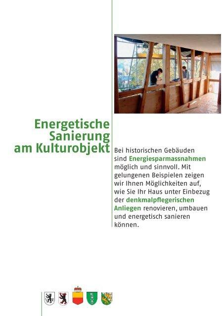 Energetische Sanierung am Kulturobjekt