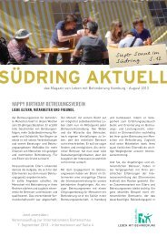 Südring Aktuell August 2013 - Leben mit Behinderung Hamburg