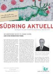 Südring Aktuell Dezember 2013 - Leben mit Behinderung Hamburg