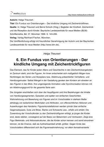 6. Ein Fundus von Orientierungen - Der kindliche Umgang mit ...