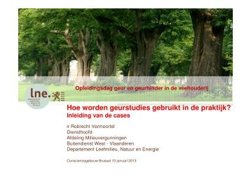 Robrecht Vermoortel, Milieuvergunningen, LNE - Departement ...