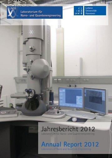 Jahresbericht 2012 - LNQE - Leibniz Universität Hannover