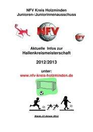 Turnierheft zur Hallenkreismeisterschaft 2012/2013