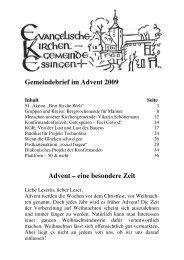 Gemeindebrief im Advent 2009 Advent – eine beso ndere Z eit