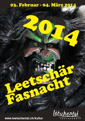 "Flyer ""Fasnacht 2014"""