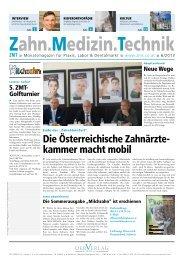 Die Österreichische Zahnärzte- kammer macht mobil - der-Verlag
