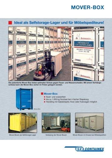 MOVER-BOX Ideal als Selfstorage-Lager und für Möbelspediteure!