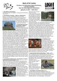 Neu im LOGO! Reiseprogramm Best of Sri Lanka ... - Logo Reisen