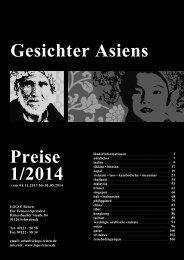 Gesichter Asiens Preise 1/2014 - Logo Reisen