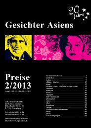 Gesichter Asiens Preise 2/2013 - Logo Reisen