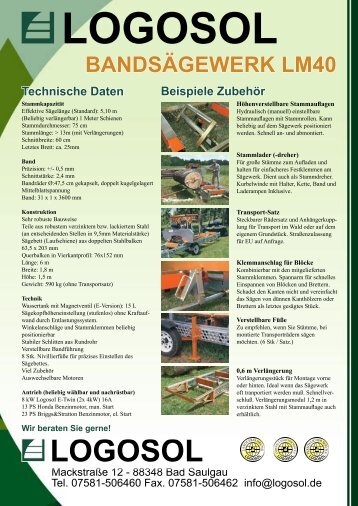 Produktblatt Bandsägewerk LM40.indd