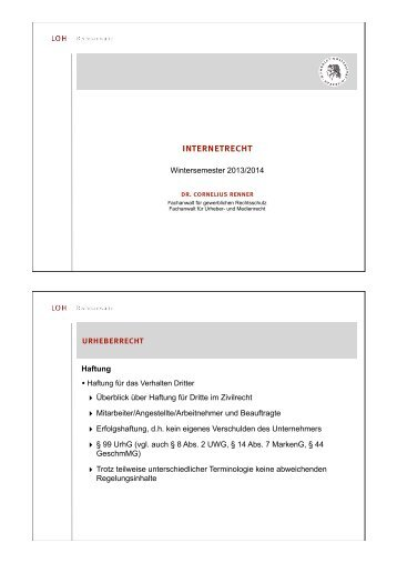 Vorlesung am 2. Dezember 2013