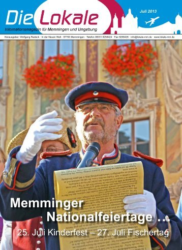 Download Juli 2013 - Lokale Zeitung Memmingen