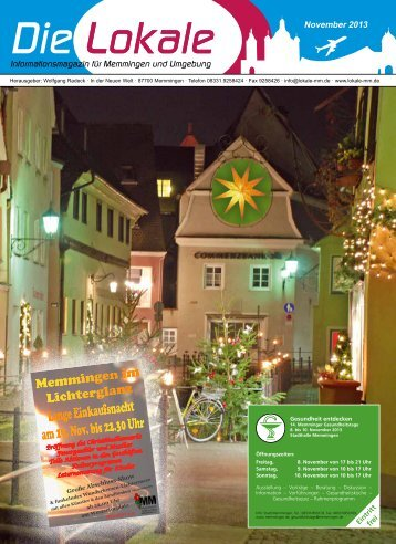 Download Ausgabe November 2013 - Lokale Zeitung Memmingen