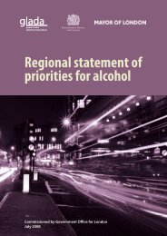 Regional statement of priorities for alcohol - Greater London Authority