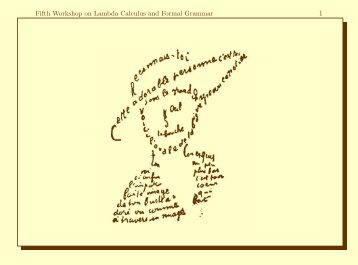 Fifth Workshop on Lambda Calculus and Formal Grammar - Loria