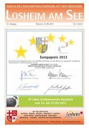 Amtliches Bekanntmachungsblatt der Gemeinde Losheim am See