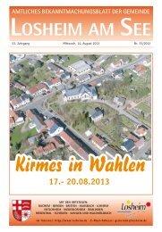 Wahlen - Gemeinde Losheim am See