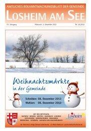 Weihnachtsmärkte - Gemeinde Losheim am See
