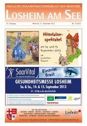 Die Tourist-Info informiert i - Gemeinde Losheim am See
