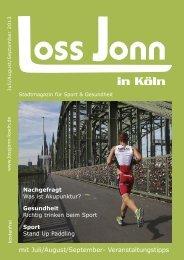 mit Juli/August/September- Veranstaltungstipps - LOSS JONN in Köln