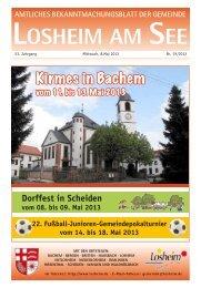 Bachem - Gemeinde Losheim am See