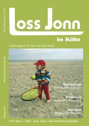 mit April-, Mai- und Juni- Veranstaltungstipps - LOSS JONN in Köln