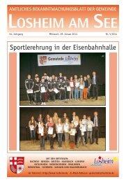 Der Bürgermeister informiert - Gemeinde Losheim am See