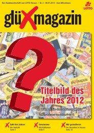 Frohes Neues! Titelbild des Jahres 2012 - LOTTO-Hessen