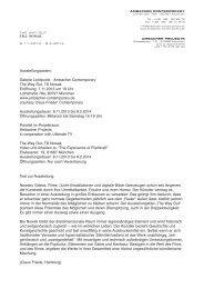 Text zur Ausstellung - PDF - galerie lichtpunkt ambacher contemporary