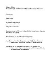Psychotherapie mit Kindern und Jugendlichen von Migranten