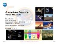 Communication & Navigation Support to Venus Missions