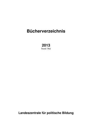 Bücherverzeichnis 2013 - Landesinstitut für Pädagogik und Medien